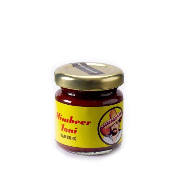 Schokovida Himbeertoni – Himbeer-Aufstrich mit Sauerkirschen und dunkler Schokolade,