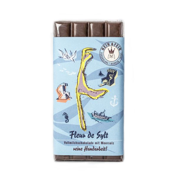 Schokovida Fleur de Sylt – Vollmilchschokolade mit Meersalz