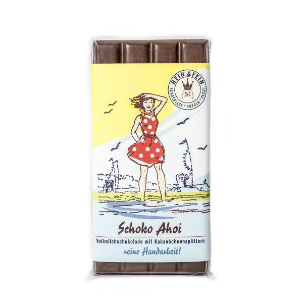 SchokovidaSchoko Ahoi – Vollmilchschokolade mit Kakaobohnensplittern