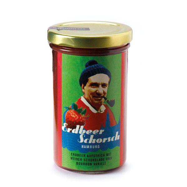 Schokovida Erdbeerschorsch – Erbeer Aufstrich mit weißer Schokolade und Bourbon Vanille