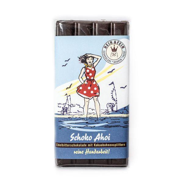 Schokovida Schoko Ahoi – Edelbitterschokolade mit Kakaobohnensplittern
