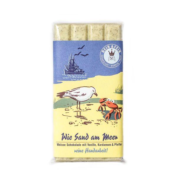 Schokovida Wie Sand am Meer weiße Schokolade Kardamom Pfeffer