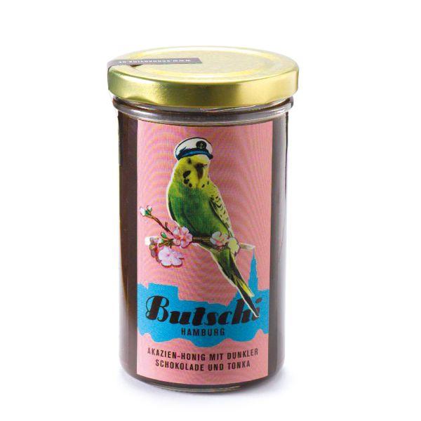 Schokovida Butschi – Akazien-Honig mit dunkler Schokolade und Tonkabohne