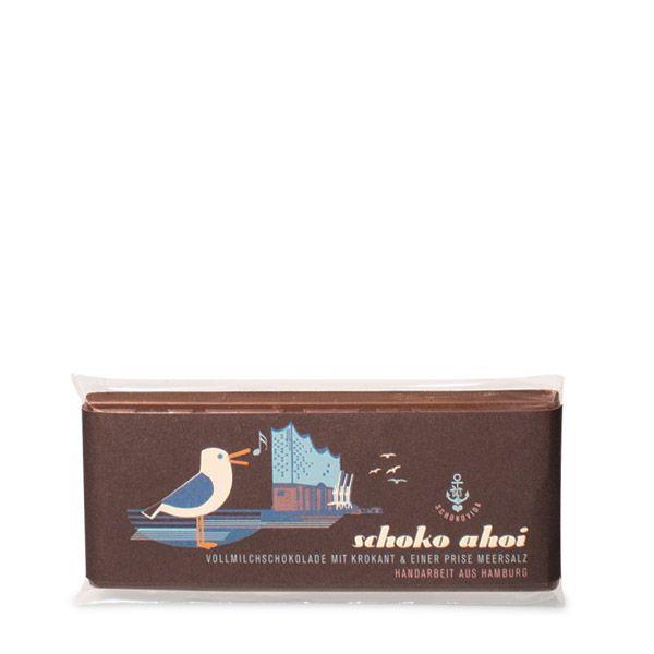 Schoko Ahoi lütt – Vollmilchschokolade mit Krokant und einer Prise Meersalz