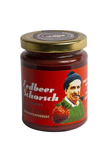 Erdbeerschorsch – Erdbeer-Aufstrich mit weißer Schokolade, 250g